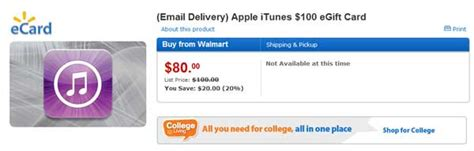 Walmart Itunes Gift Card 100 - walmart selling 100 itunes gift cards for 80 slashgear