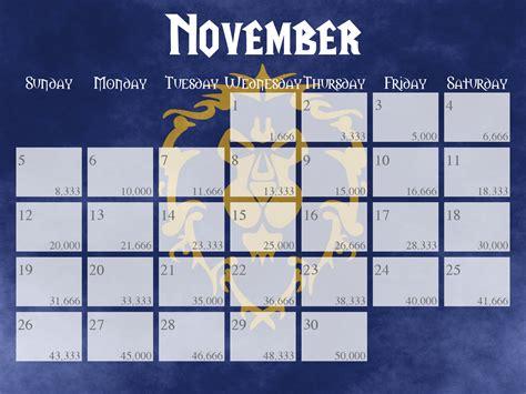1416287205 world of warcraft calendar world of warcraft nanowrimo calendars 2017 4x3 by