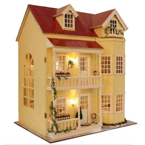 miniature homes models diy maison de poup 233 es en bois miniature fabriqu 233 kit large