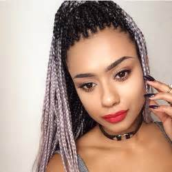 black to grey ombre box braids hairstyles braid for black grey hair blackhairstylecuts com