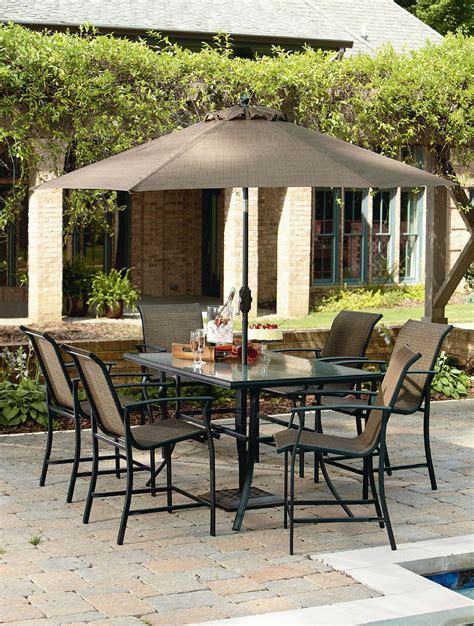 Garden Oasis Patio Furniture by Review Garden Oasis Harrison 7 Sling High Dining