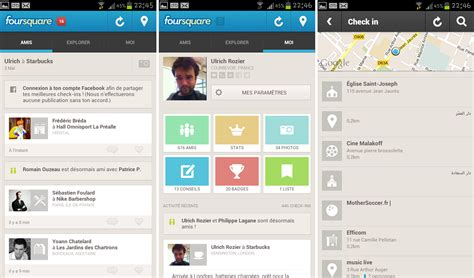 android version 5 0 l application foursquare passe 224 la version 5 0 sur