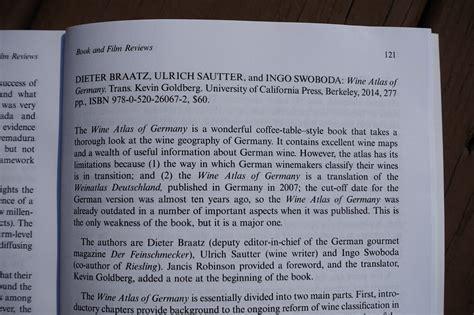 Schiller Wine Book Review Of Quot Wine Atlas Of Germany Quot In