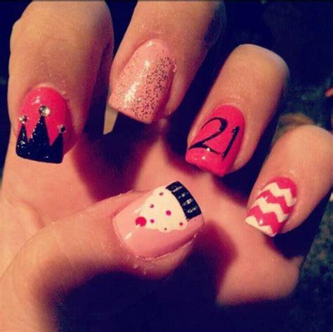 Birthday Themed Nails | birthday themed nail arts pretty designs