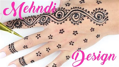 easy simple mehndi designs  hands   apply henna youtube