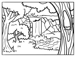 forest color printable forest coloring sheets