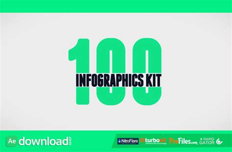 after effects free infographic template 100 infographics kit videohive project free download
