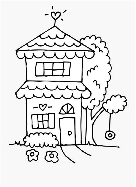 house clipart black  white black  white cute house
