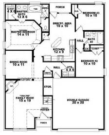 3 bedroom 2 bath house plans 654107 one and a half story 3 bedroom 2 bath