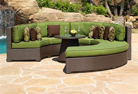 curved outdoor sofa furniture cabo curved sectional polyvore collages pinterest