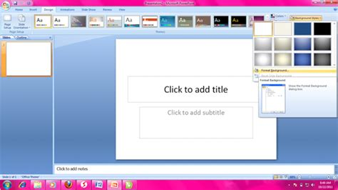 cara membuat navigasi power point cara mengganti background powerpoint sesuai keinginan