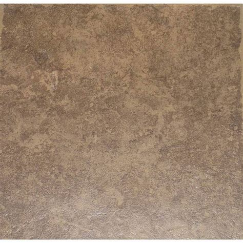 shop style selections la balantina brown la balantina brown matte ceramic tile common 12 in x