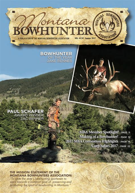 Mba Summer C 2017 by Summer 2017 Issue Montana Bowhunters Association
