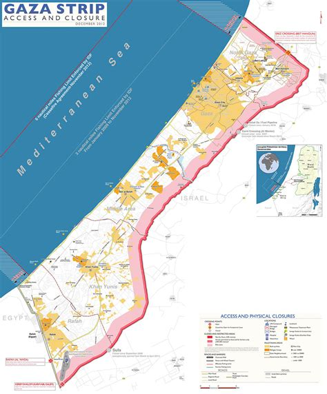 gaza map blockade of the gaza