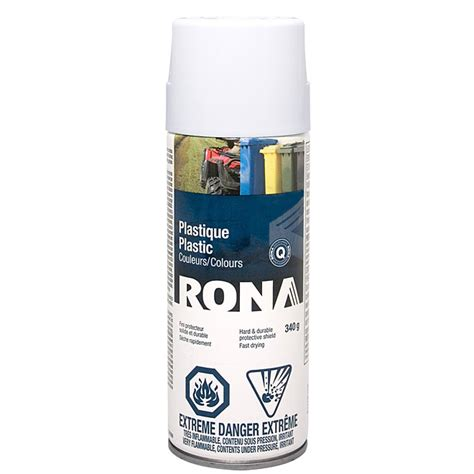 white acrylic spray paint spray paint for plastic 340g white rona