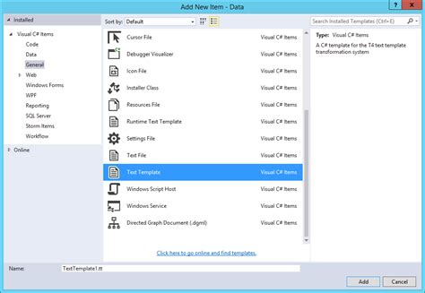 templates for visual studio 2015 living and breathing the world of microsoft using t4