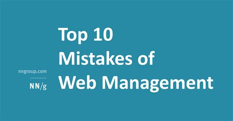 Top Ten Branding Mistakes To Top 10 Mistakes Of Web Management