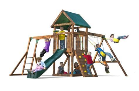 swing season tube kids creations wooden swing sets
