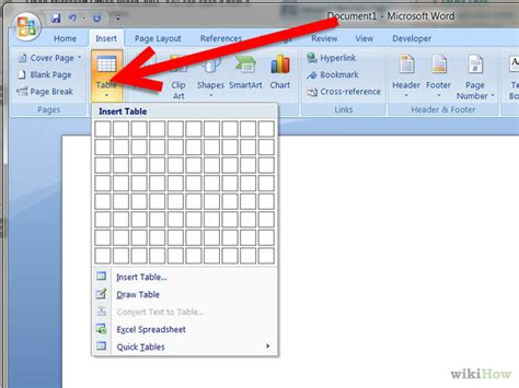 how to create a simple table in microsoft word 5 steps