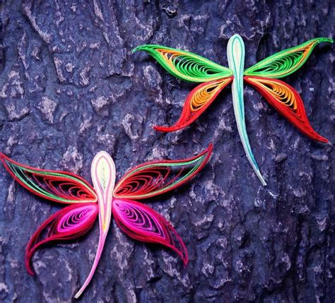 dragonfly rubber st dazzling dragonfly quilling designs allfreepapercrafts
