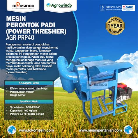 Mesin Perontok mesin perontok padi power thresher agrowindo agrowindo