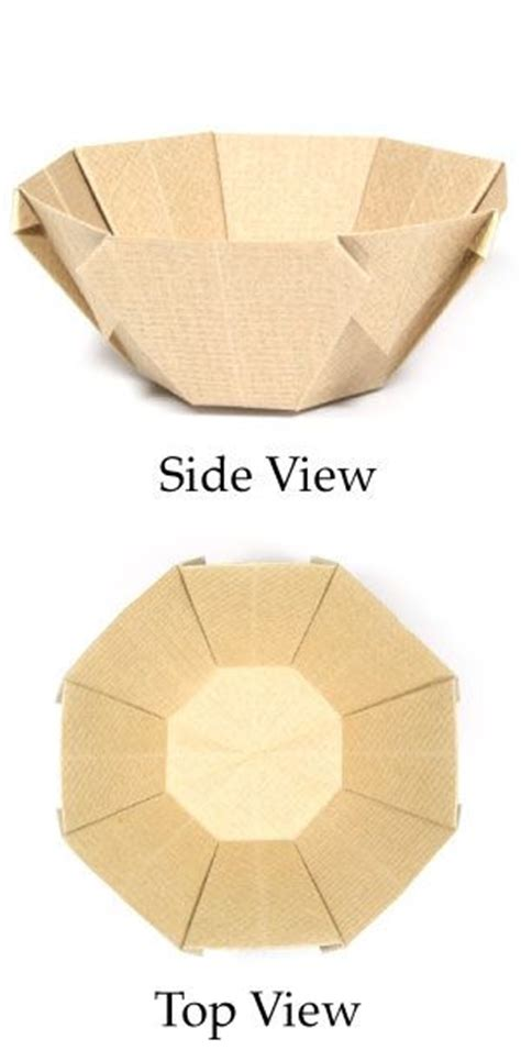 How To Fold A Paper Bowl - best 25 origami bowl ideas on origami box