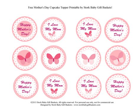 Baby Shower Topper stork baby gift baskets 187 archive free printable