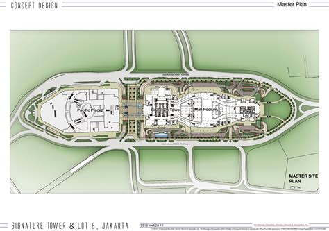 site plan 171 signature tower jakarta scbd 638 meters 111