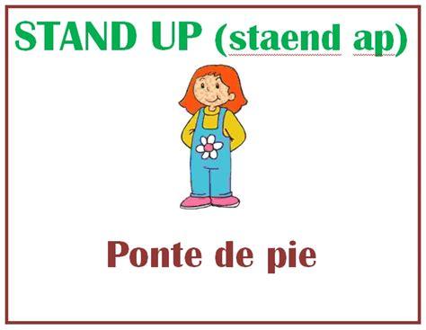 imagenes en ingles stand up storyblog2 commands instrucciones dentro del sal 243 n de clase