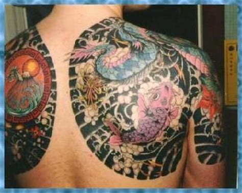yakuza style tattoo with koi fish tattooimages biz