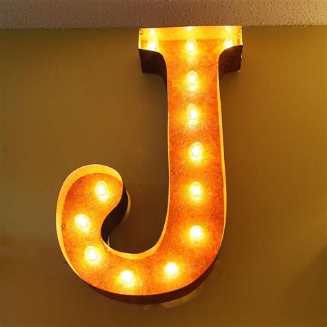 marque letters 24 letter j lighted vintage marquee letters rustic