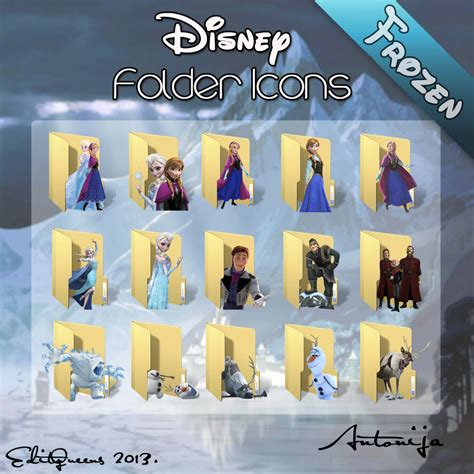 disney wallpaper pack disney folder icons frozen by editqeens on deviantart