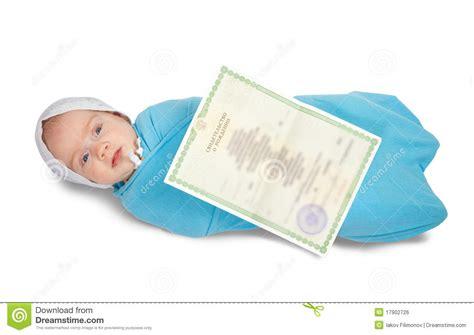 el beb es un 8494182676 beb 233 con el certificado de nacimiento imagen de archivo libre de regal 237 as imagen 17902726