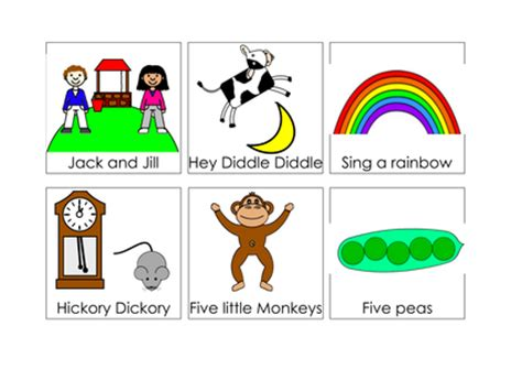 song cards nursery rhyme song cards by ibuzzybea uk teaching