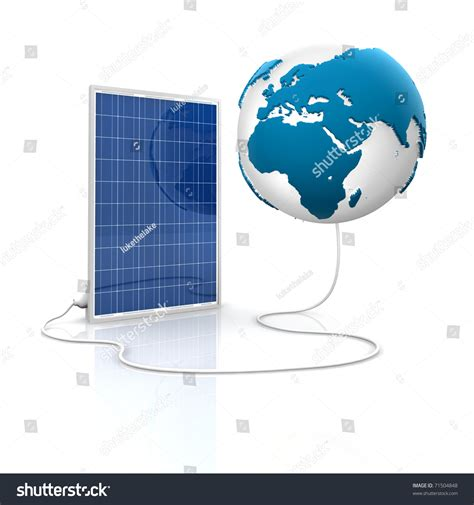 solar panel for green and renewable energy save the world