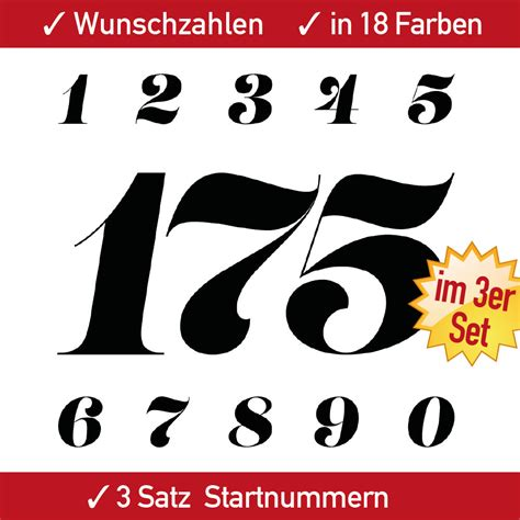 Aufkleber F R Motorsport by Zweifarbige Startnummern F 252 R Motorrad Auto Und
