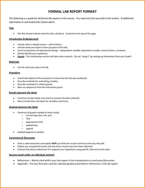 lab write up template 7 formal lab write up template financial statement form