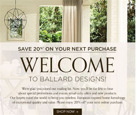 ballard designs promotional code 15 ballard designs coupon code 2018 promo codes dealspotr