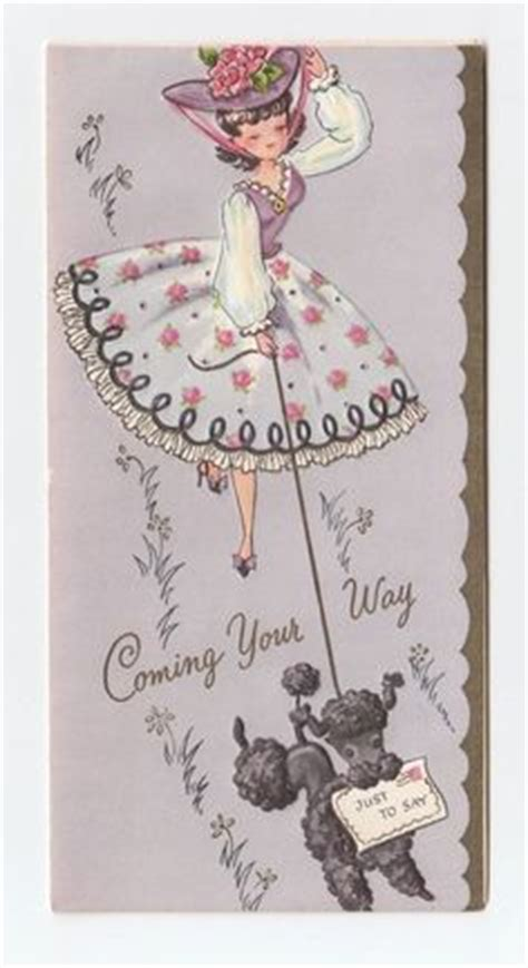 vintage birthday card poodle part of my vintage greeting 1000 images about vintage birthday greeting cards on