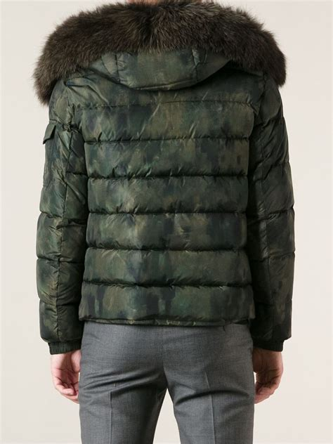 Camo Padded Jacket lyst moncler byron camouflage padded jacket in green for