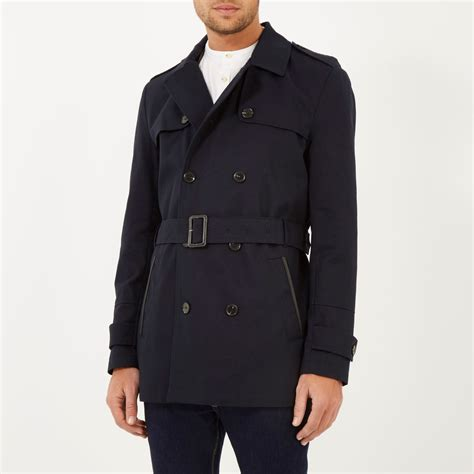 Island Trenchcoat by River Island Navy Smart Trench Coat In Blue For