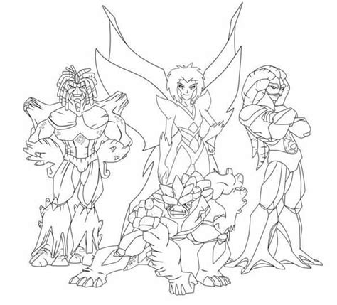 animations a 2 z coloring pages of gormiti