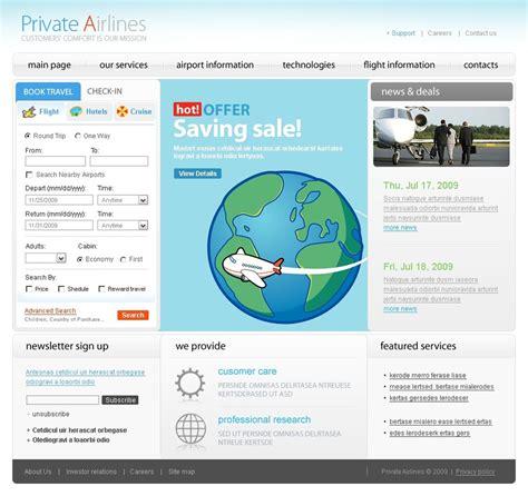 Airline Tickets Website Template Web Design Templates Website Templates Download Airline Airline Website Template