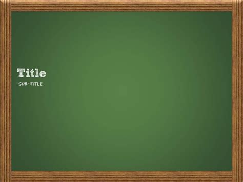 chalkboard template power point template pinterest