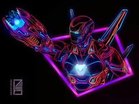 iron man glow style infinity war avengers marvel