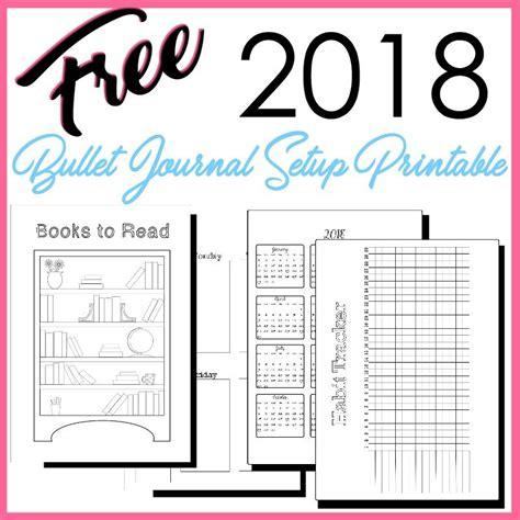 Printable Bullet Journal 2018 | 2018 bullet journal setup free printable bullet a5 and