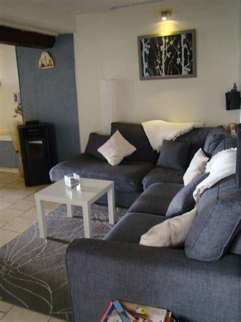 salon avec canapé gris salon gris cocooning
