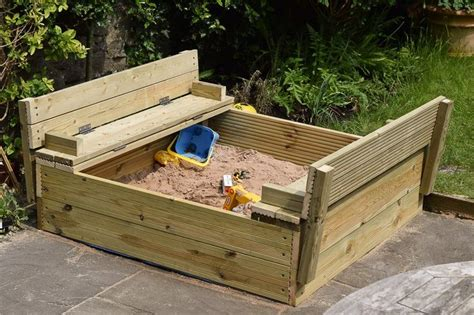 sandbox with folding benches 14 best images about diy sandpit with benches on pinterest