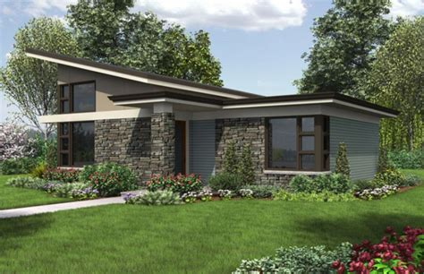 single storey modern house plans single story modern house plans