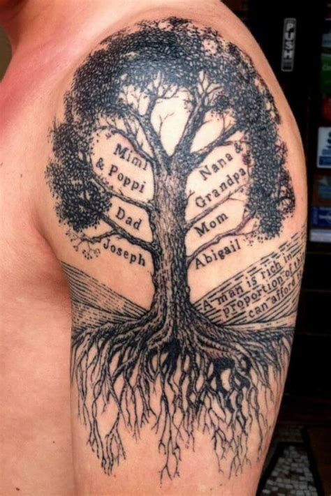 sohl family tree tattoo design family tree on shoulder www pixshark images